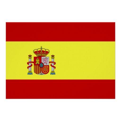 Spain Flag Print
