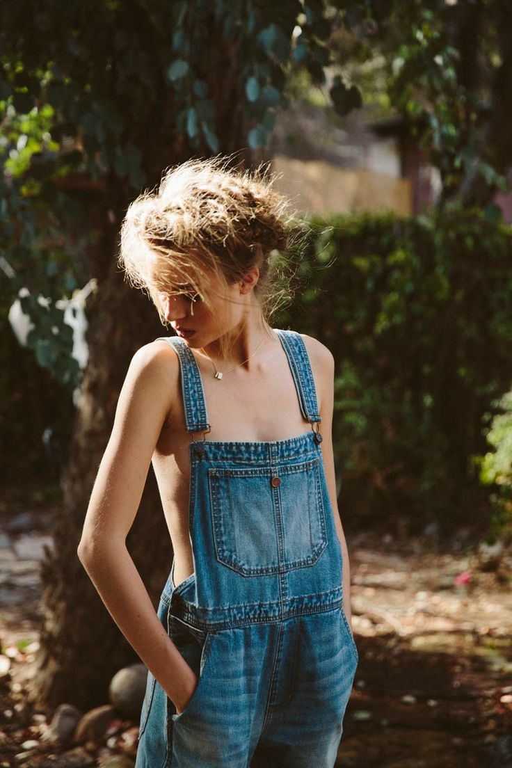 Pussy beautiful naked girls in overalls