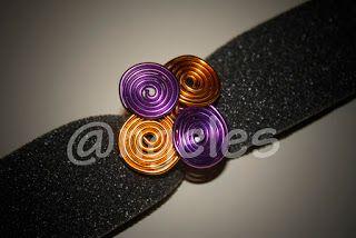 Las creaciones de @ngeles: Anillo alambre 4 espirales