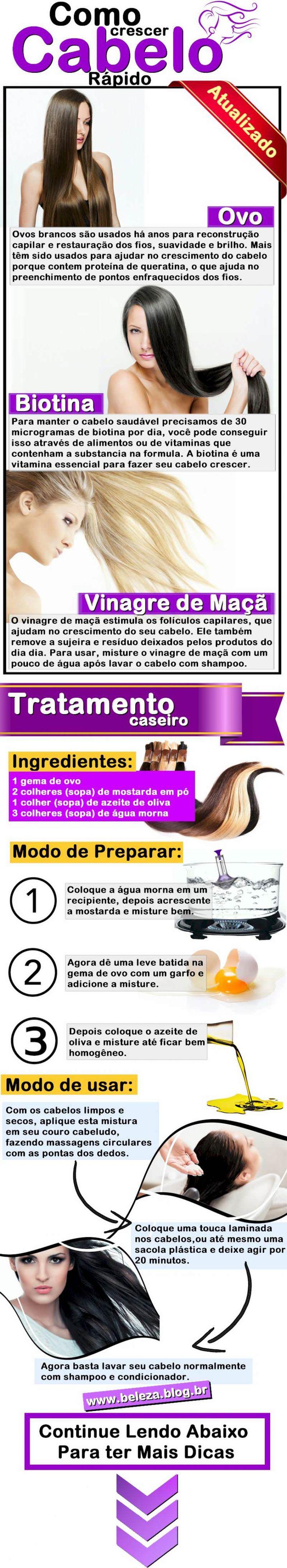 Mistura para crescimento de cabelo