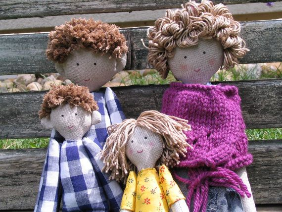 Family doll, family rag doll, custom personalized dolls by apaCukababa https://www.facebook.com/ApaCukababa