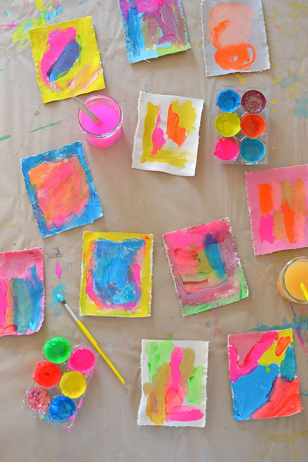Mini Canvas Paintings with Kids 1126 best