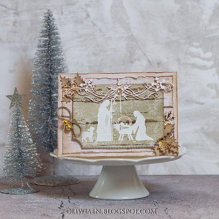 CraftHobby Oliwiaen: W stajence / In A Manger #polandhandmade #christmascard #bozenarodzenie