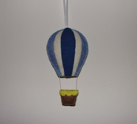 Wool Felt Balloon Hanging Hot Air Balloon Wall by NitaFeltThings