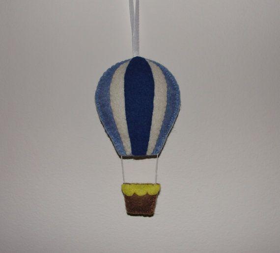 Wool Felt Balloon Hanging Hot Air Balloon Wall by NitaFeltThings