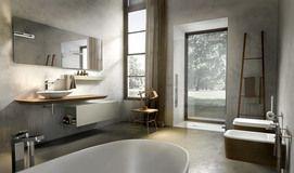 Collezione Maia by Edoné Design - 18 - Texture ricercate arredano l'ambiente bagno