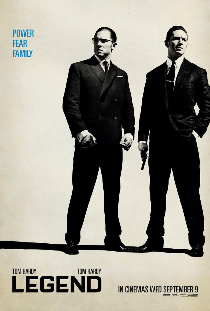 Twice as nice? Check out Tom Hardy in his incredible double performance as the Kray twins, in cinemas 09.09.15