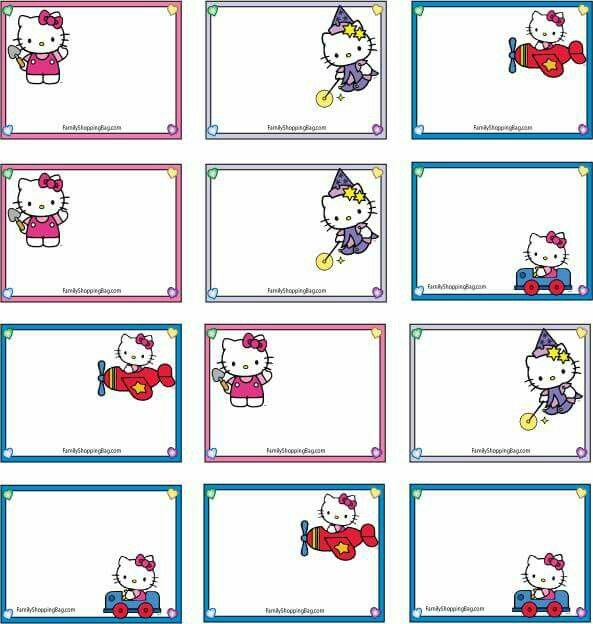 197 best name tags images on pinterest anniversary parties hello kitty gift tags gift tags party for kids negle Choice Image