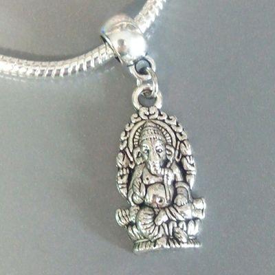 Boeddha Ganesha - Olifant hoofd - God van kennis & wijsheid - Charm Bedel voor Armband of Ketting van Pandora Trollbeads Biagi enz.
