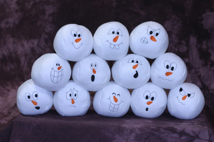 Indoor Snowball Fight Game or Toy  6 snowball set by StitchNFun, $18.00