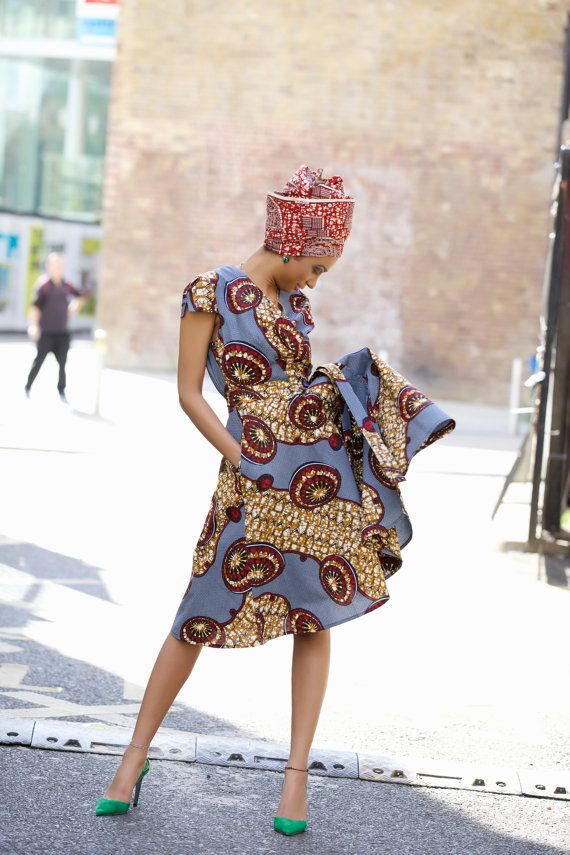 NEW IN - Queen African print wrap dress by GITAS Portal