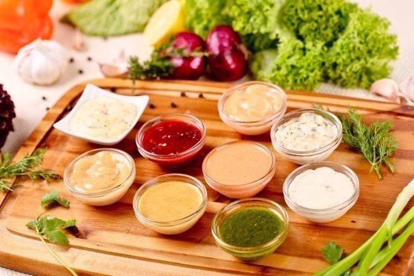 10 options of various sauces