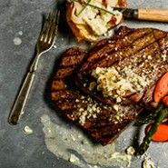 London Broil With Blue Cheese Butter | Traeger Wood Fired Grills