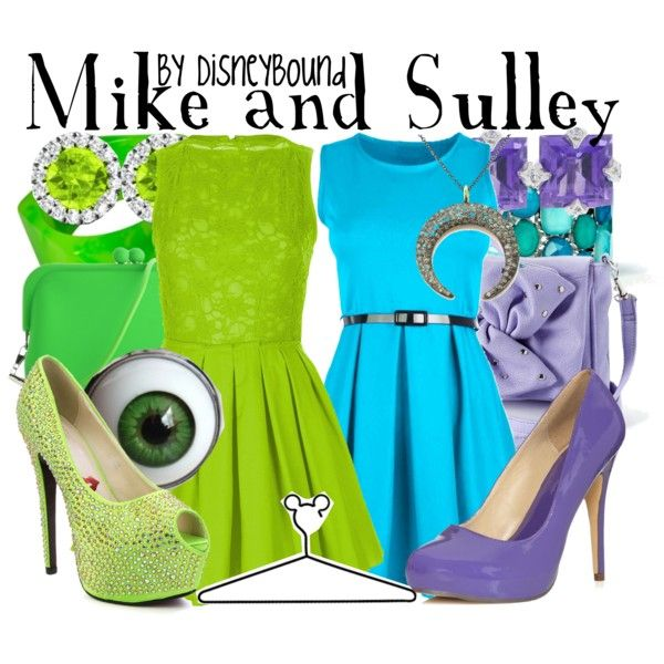 Mike and Sulley by lalakay on Polyvore