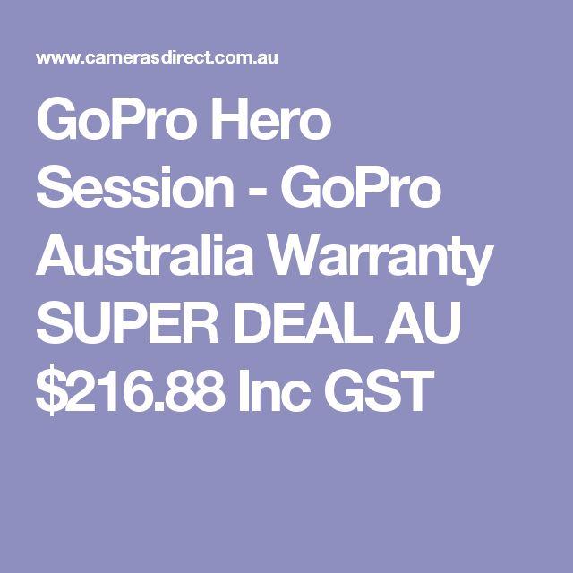 GoPro Hero Session - GoPro Australia Warranty SUPER DEAL  AU $216.88 Inc GST