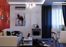 Интерьер маленькой квартиры в Киеве на 42 кв.м от студии IDEAS