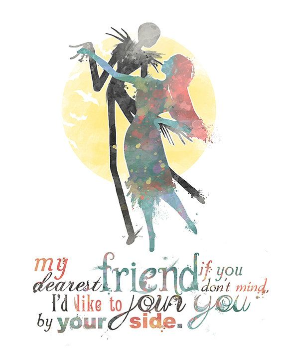 Jack and Sally Nightmare Before Christmas von LittoBittoEverything