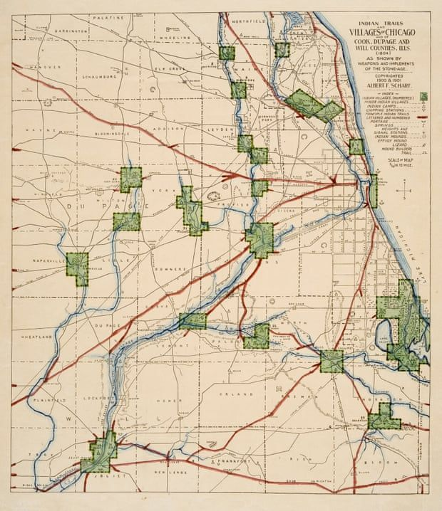 Map Of America Showing Chicago.Native American Routes The Ancient Trails Hidden In Chicago S Grid