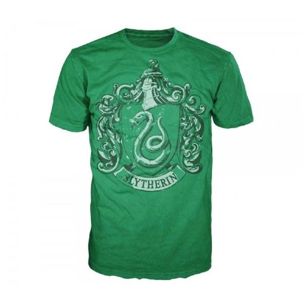 Harry Potter Slytherin House Crest Mens Green T-shirt XXL ($19) ❤ liked on Polyvore featuring men's fashion, men's clothing, men's shirts, men's t-shirts, mens green shirt and mens t shirts
