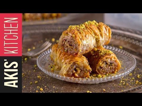 Rolled Baklava (Saragli) | Akis Kitchen - YouTube