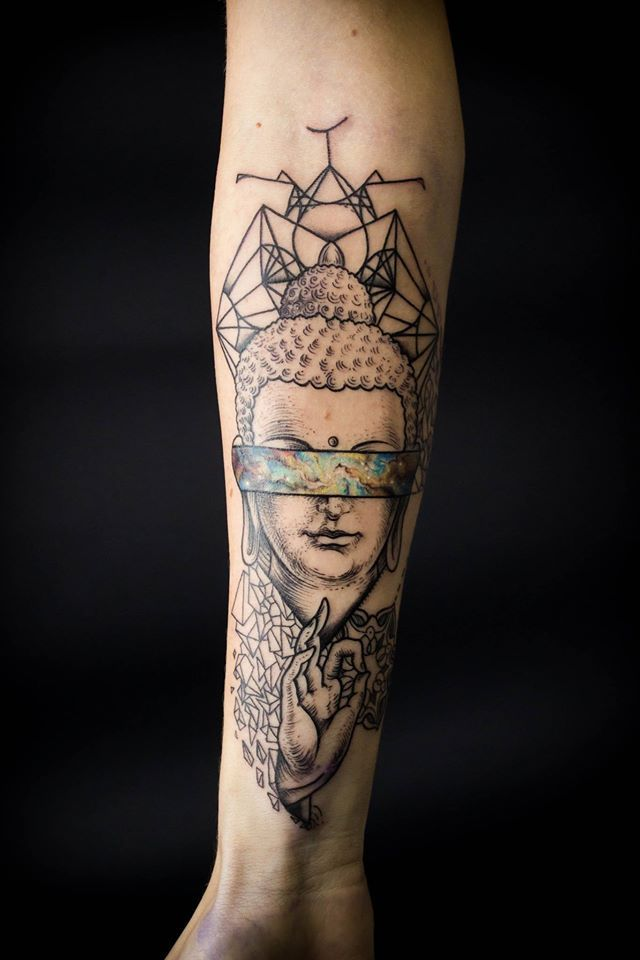 Intense Buddha tattoo.