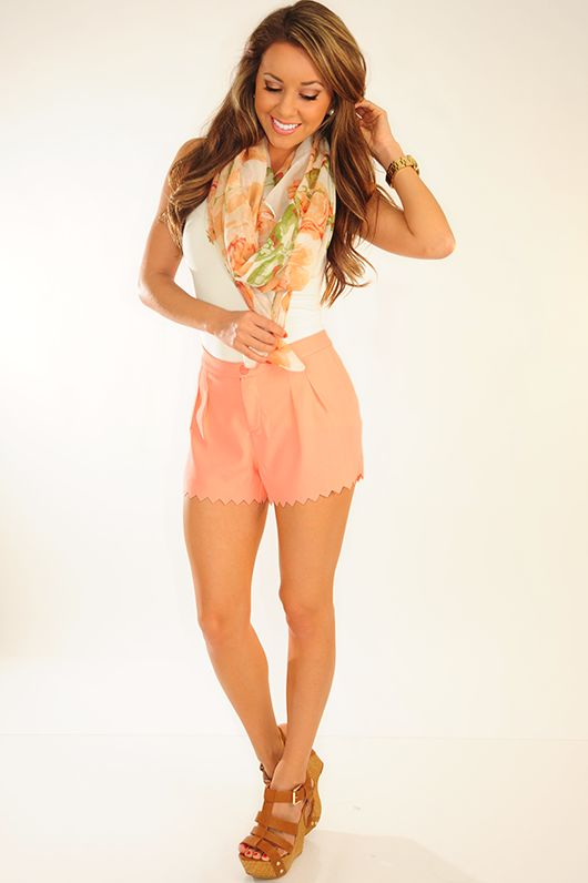 Oh My Peaches Shorts: Light Peach get it for 10% OFF with code: SUNSHINESTILETTOS and always free shipping!