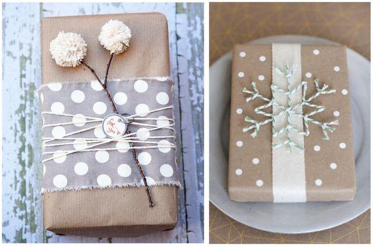 Упаковка из крафт-бумаги. Пробуйте, экспериментируйте и создавайте красоту!