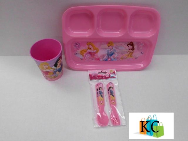 Disney Princess sectioned plate, Fork & Spoon set, Cup $31.50 Layby Welcome on All Sets.. $10 per week
