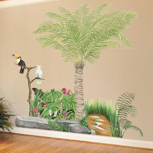 Tropical Garden Mural