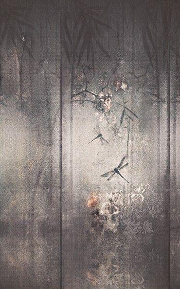 Papel de parede de flores LIBELLULA Coleção Contemporary Wallpaper 2016 by Wall