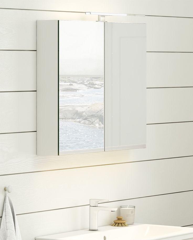Spegelskåp från Artic med inbyggd LED-belysning.