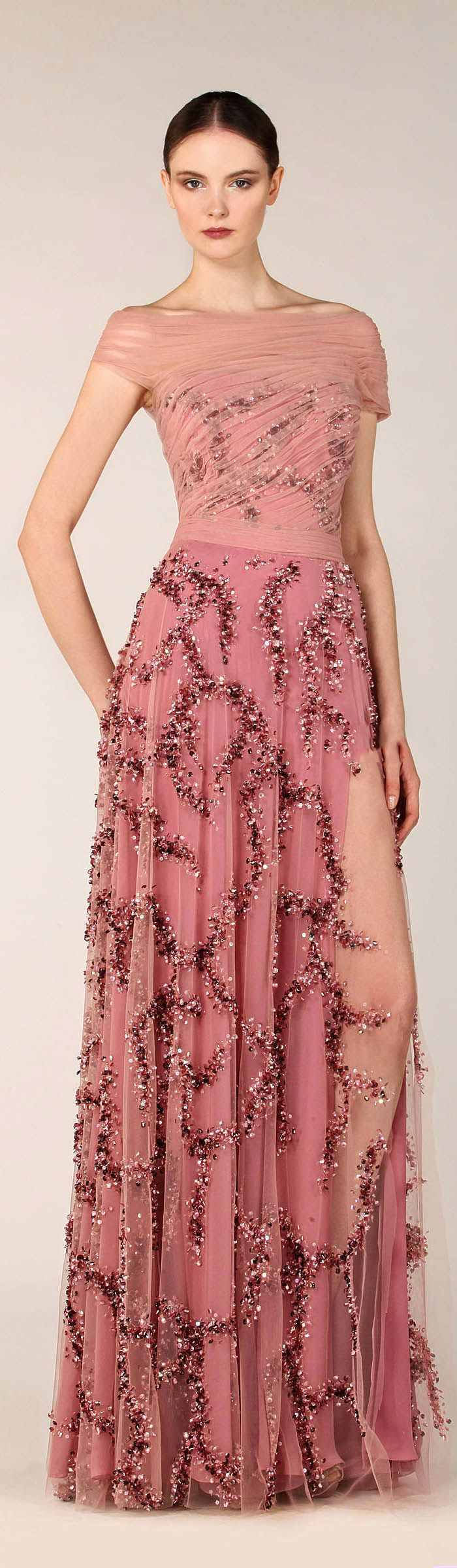72 best Pink evening gowns images on Pinterest | Formal evening ...