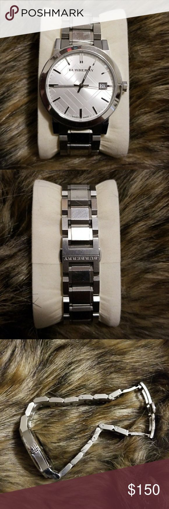 Burberry Watch 100% Authentic  Pre owned WATCH Has some scratches  Battery works No box Burberry Accessories Watches