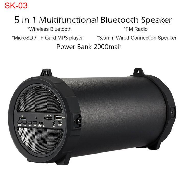 Akaso multifu Wireless deep bass Bluetooth Speaker 10W Big Power HiFi Portable USB Stereo Subwoofer Speakers Sound Box //Price: $4615.87     #gadgets