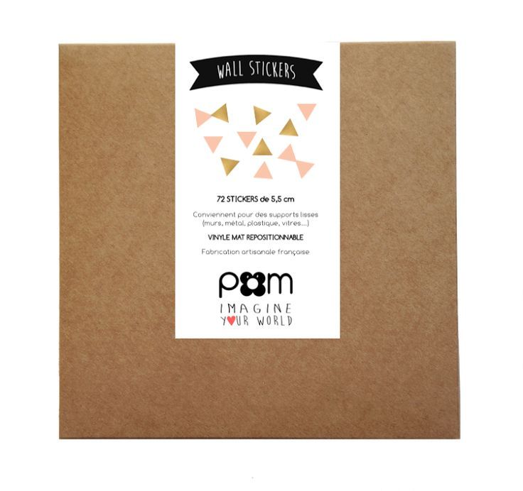 Stickers Triangles Rose et Or