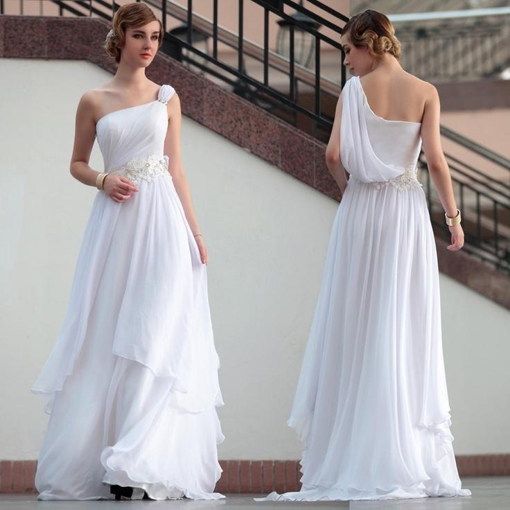 Beach Wedding Dress 2013 Flowing Summer Dresses Greek: The Newer Age Wedding Dresses Resemble Chitons A Lot