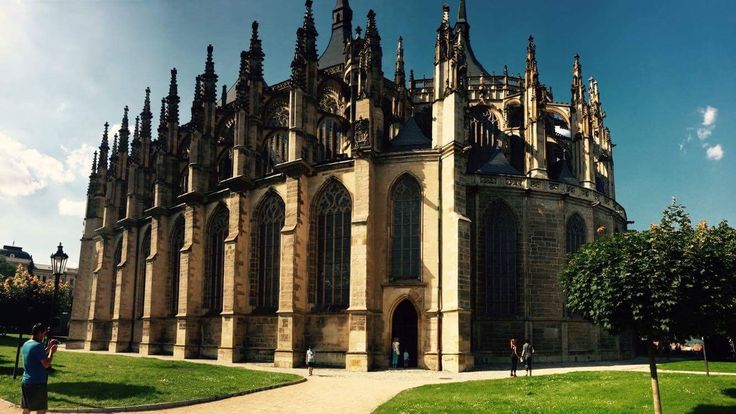 Saint Barbora's cathedral. Kutná Hora. UNESCO sight. Patronus of the miners.