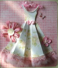 Paper Dresses Art | The Cherry On Top: Pretty Paper Dress | Mixed Media Art --- for inspiration. JJ