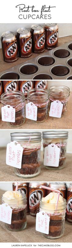 Root Beer Float Cupcakes | by Lauren Kapeluck  for TheCakeBlog.com