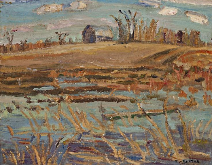 Ralph Wallace Burton - Late Autumn 10.5 x 13.25 Oil on panel