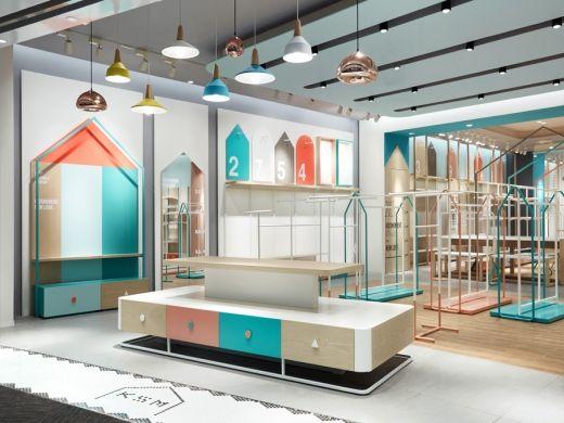 Rigi Design gives a kids' clothing store a sophisticated shake-up in China via Frameweb.com