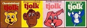 Tjolk was een zuiveldrank die eind jaren '70 op de markt kwam. Je had ze in vier smaken: chocolade (beer), banaan (aap), aardbei (konijn) en de minder bekende versie van de melk (koe). Bij ve…