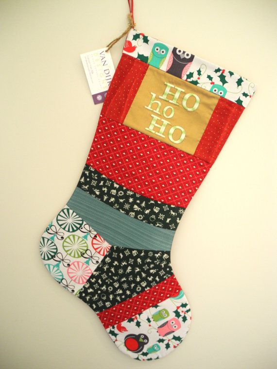 Christmas Stocking One-of-a-Kind Whimsical by VanDijkDesigns