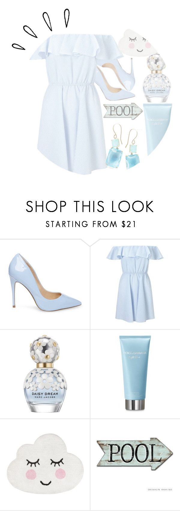"""""""Light blue"""" by dramagirl4 ❤ liked on Polyvore featuring Steve Madden, Miss Selfridge, Marc Jacobs, Dolce&Gabbana, Ippolita and Old Navy"""