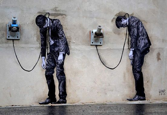 Awesome Black and White Street Art in Paris | The Design Inspiration