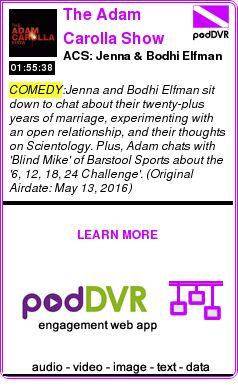 #COMEDY #PODCAST  The Adam Carolla Show    ACS: Jenna & Bodhi Elfman    READ:  https://podDVR.COM/?c=291187d0-54ab-b16c-8721-5e9bca23436b