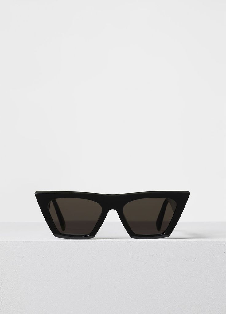 Edge Sunglasses in Black Acetate with Black Lenses