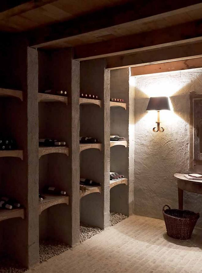 Wine cellar by Lefèvre Interiors