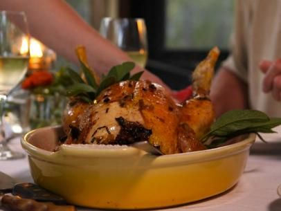 Roast Chicken with Green Herb Stuffing #UltimateComfortFood