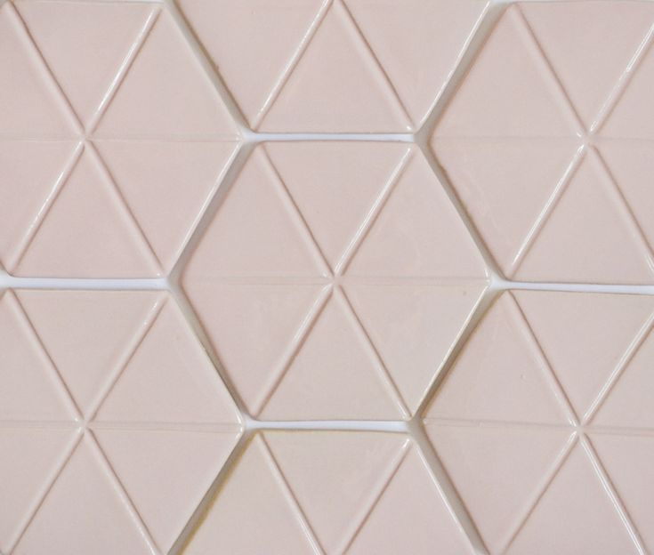 Pink hexagon tiles. Retro colour from the 50's.